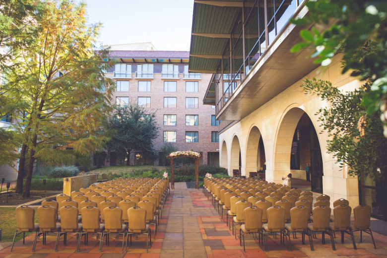 Outdoor Courtyard Wedding Ceremony
